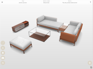 application and 3d configurator by innersense for duvivier canaps - Canape Duvivier