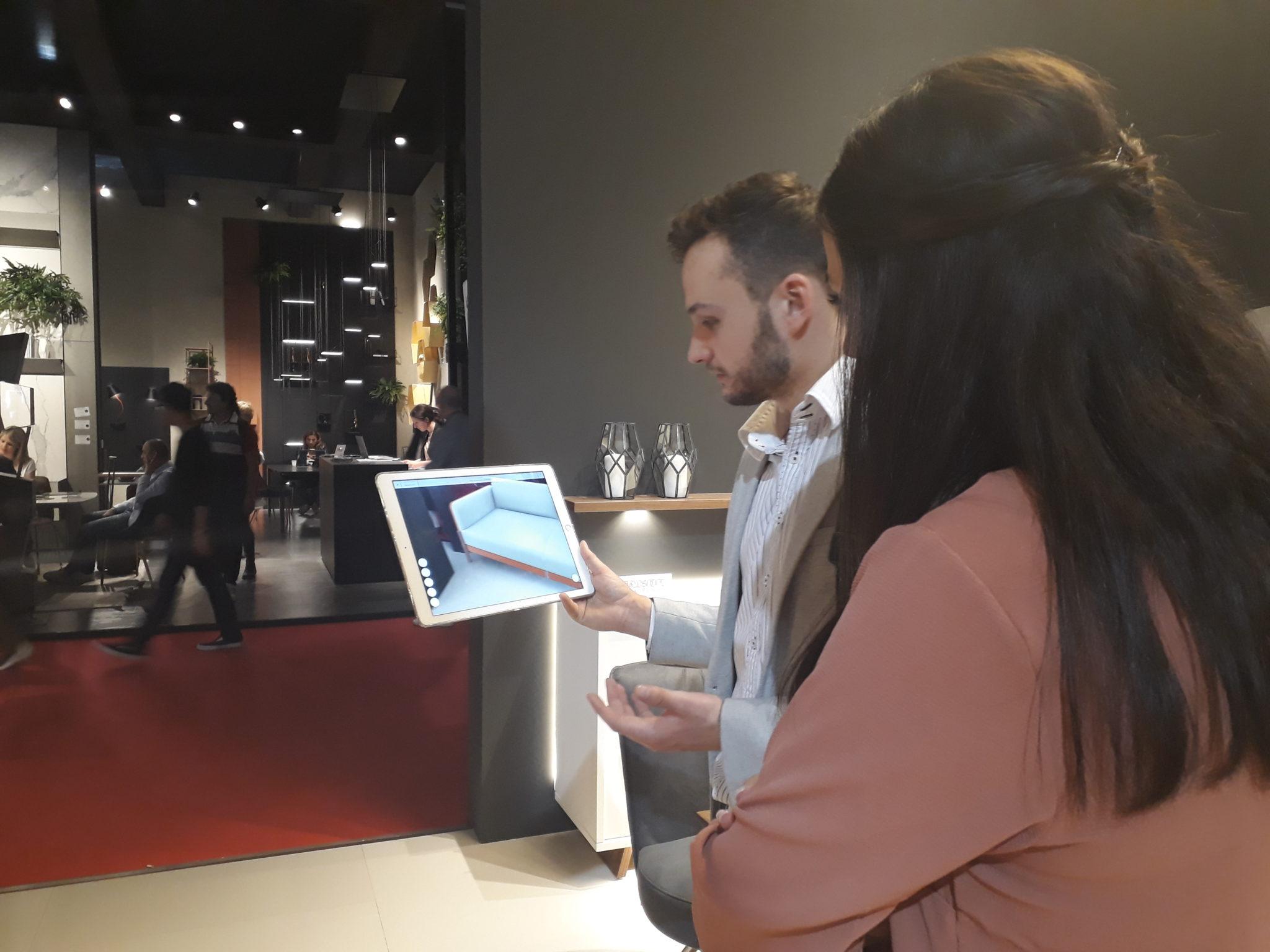Démonstration réalité augmentée Salone del Mobile - Milan